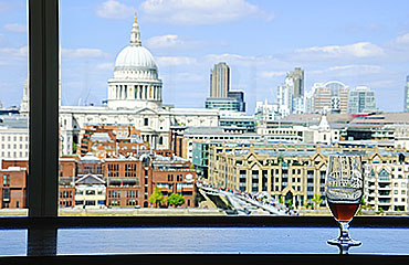 View of St Paul's Cathedral, London